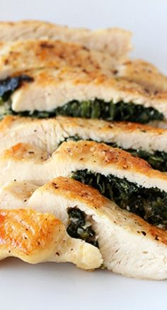 Spinach and Feta Stuffed Chicken Recipe ~ delightfully juicy and flavorful!