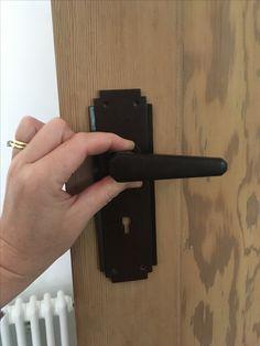 Art Deco 1930 Bakelite door furniture door handle