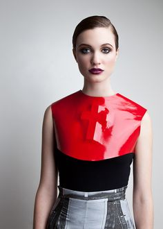 Amanda deLeon - Embossed Leather Chest Plate / amandadeleon.com