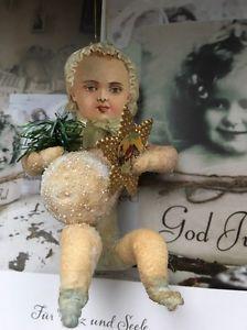 Watte Figur Wattefigur ,jdl,shabby,Christbaumschmuck 10 cm Baby für Federbaum  | eBay