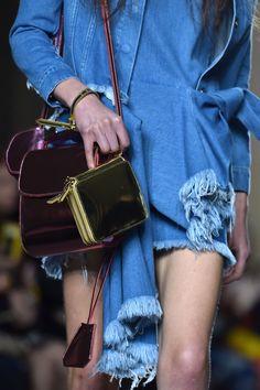 MARQUES'ALMEDIA Velvet Shoulder #Bag