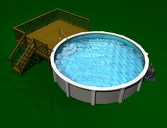 Above Ground Pools Decks Idea | ... of Above ground pool deck plans – Building a pool deck is easy