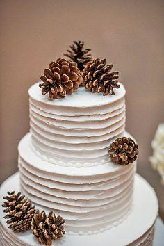 18 Fabulous Winter Wedding Cakes We Adore ❤ See more: http://www.weddingforward.com/winter-wedding-cakes/ #weddings #cakes