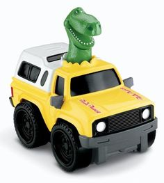 """Fisher-Price Shake 'n Go Disney/Pixar Toy Story 3: Toy Story Rex by Fisher-Price. $12.97. Collect all the Shake and Go cars. Shake the car to activate its unique engine sound. The more you shake it, the further it goes. Race with your friends to see who will win. Races up to 20'. From the Manufacturer Shake and Go Racers put the control of speed and power into kids hands. Kids can now play with characters from the movie """"Toy Story"""". All cars will have..."""