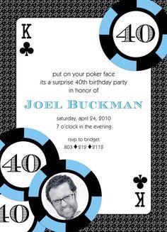 Playing card birthday Invitation