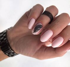 Rounded nail art design is one of the most popular nail designs. Rounded nails are difficult to distinguish from oval nails sometimes because they are very similar. It is also possible to classify rounded nails directly as oval nails, because rounded Acrylic Nails Nude, Matte Nail Art, Dot Nail Art, Polka Dot Nails, Moon Manicure, Nail Manicure, Nail Polish, Round Nails, Oval Nails