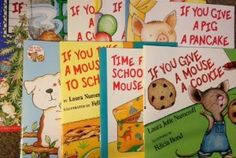 If You Give Book Pack (8 Paperback Books) Give A Dog A Donut / Give A Mouse A Cookie / If You Give a Cat a Cupcake / If You Give a Pig a Party / If You Give a Moose a Muffin / Take a Mouse to School / Take a Mouse to the Movies / Give A Pig a Pancake (If You Give A Mouse A Cookie): Laura Numeroff, Felicia Bond: 9780545659987: Amazon.com: Books