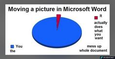True Pictures - Search our So True memes, pictures, videos & more! Find funny but true memes that show just how hilarious life can be. Microsoft Word, Best Funny Pictures, Funny Photos, Funny Pie Charts, Funny Jokes, Hilarious, Dad Jokes, Tastefully Offensive, First World Problems