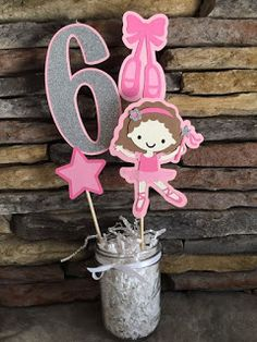 Items similar to Ballerina Centerpiece Ballerina Birthday Party Baby Shower Happy Birthday Ballerina Centerpiece Ballerina Photo Prop Party Decor on Etsy Ballerina Birthday Parties, 6th Birthday Parties, 3rd Birthday, Happy Birthday, Birthday Ideas, Birthday Party Centerpieces, Birthday Decorations, Ballerina Party Decorations, Party Tables