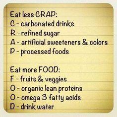 Eat Less Crap... Eat More Food... Simple