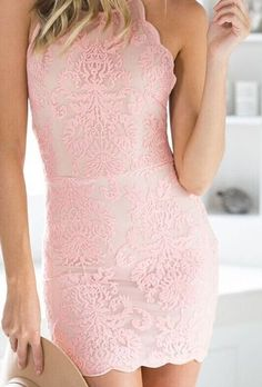 Lace Embroidery Spaghetti Straps Dress on Luulla