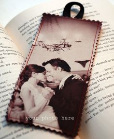 Customized Fabric Photo Bookmark - Use your own picture - Book of Love - FREE SHIPPING USA - Perfect Gift for anyone