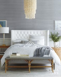 Explore the Serena & Lily luxury bedding collection and discover beautiful cotton bedding sets, sheet sets, duvet covers, quilts, & shams. Home Decor Bedroom, Modern Bedroom, Master Bedroom, Contemporary Bedroom, Modern Contemporary, Bedroom Ideas, Mens Bedding Sets, Tufted Bed, Luxury Bedding