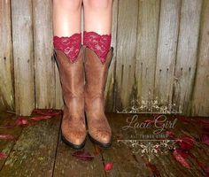 Country Wedding Party Pure Lace Boot Cuffs