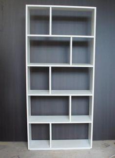 biblioteca cubo melamina blanca 1.80 mt  x 83 cm x 25 cm