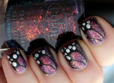 The Uptown Butterfly Manicure with Color Club and Vivid Lacquer