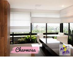 A decoração da casa dos sonhos começa com uma bela cortina Romana Cascata AMBIENTE.😍