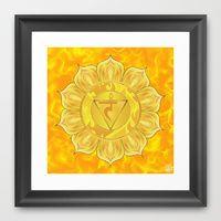 Framed Print of Solar Plexus Chakra