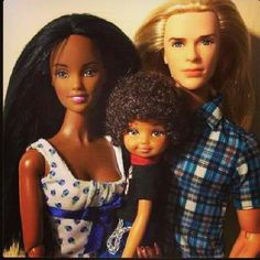 interracial barbie and son..precious!!