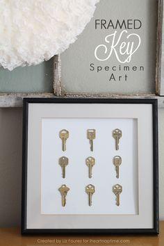 Framed Key Specimen Art I Heart Nap Time | I Heart Nap Time - Easy recipes, DIY crafts, Homemaking