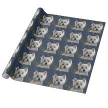 STARLIGHT WESTIE WRAPPING PAPER