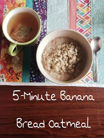 This 5-Minute Banana Bread Oatmeal is so quick to put together. It really tastes like banana bread, but in a healthy fill-you-up form.