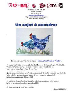 Un sujet à encadrer : les poulettes bleues de Vendée