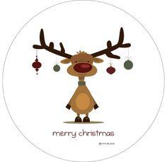 Retro Rudolph plate