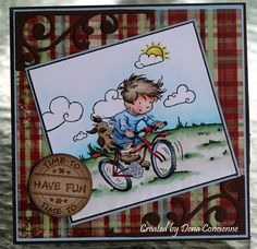 Hello all, we have a new challenge at Lili of the Valley today. This little stamp is called. Pinterest Cards, Boy Cards, Men's Cards, Card Making Tips, Dena, Digi Stamps, Lily Of The Valley, Watercolor Cards, Copics