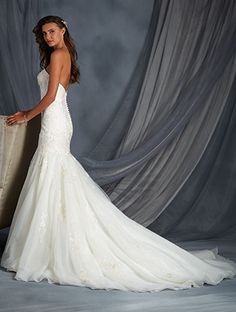 Alfred Angelo Bridal Style 2558 from All Wedding Dress Collections Bridal Collection, Dress Collection, Alfred Angelo Bridal, Wedding Shoppe, Man And Wife, Wedding Dress Styles, Bridal Style, Fit And Flare, New Dress