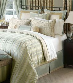 This classic bedding brings stylish beauty to your bedroom.