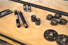 The plumbing pieces you'll need to build simple DIY pipe shelves