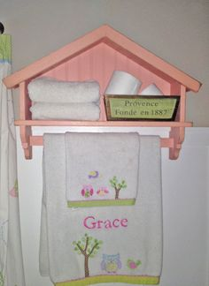 kids bathroom? Ana White | Build a Birdhouse Bath Shelf with Towel Bar | Free and Easy DIY Project and Furniture Plans