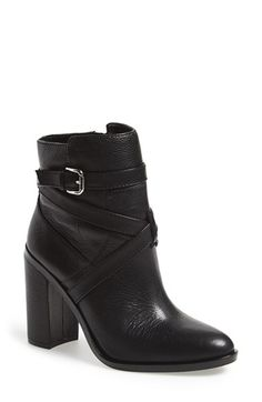 Vince Camuto | 'Gravell' Belted Boot // Actually want this bootie in all three colors, love the strap detail.