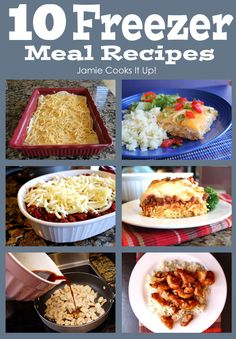 10 Freezer Meal Recipes from Jamie Cooks It Up! #freezermeals, # jamiecooksitup,
