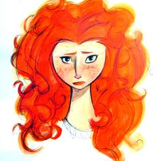 completely different kind of face for a woman yet just as stunning - 67 Pieces Of Stunning Pixar Concept Art