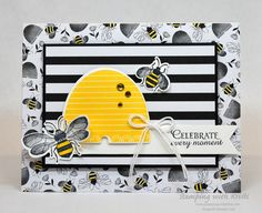 Stamping With Kristi - Kristi Gray, Stampin' Up! Handmade Birthday Cards, Greeting Cards Handmade, Stamping Up Cards, Rubber Stamping, Bee Cards, Bee Happy, Paper Cards, Homemade Cards, I Card