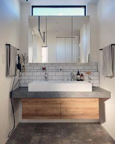 Japan Interior, Ikea Interior, Bathroom Interior Design, Interior Styling, Sweet Home Design, Wardrobe Design Bedroom, Washroom, House Rooms, Living Room Designs