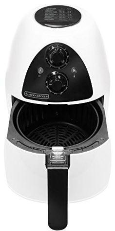 Hot Air Fryer Purify 2-Liter No Oil Healthy Black+Decker HF100WD White Electric #BLACKDECKER