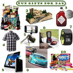 Father's Day Gift Guide for your Super Star Dad!  Make him feel like a kid again.
