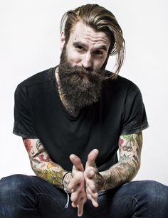 Ricki Hall @RickiFuckinHall #beard #tattoos #beard #styles #mens fashion #hairstyles #hipsters #boys #tattoos