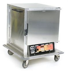 """EAGLE Mobile Heated Cabinet Panco® Heated Holding Cabinet, extended undercounter, 5 sets wire slides, 3"""" OC, digital temperature control with LCD readout, full 270º open swing solid door, non-insulated aluminum construction, bottom-mount heater, 3"""" polymer swivel casters"""
