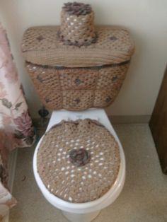 Set de baños tejidos a crochet - Imagui
