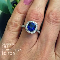 Blue for true love at @boodlesuk - £8000 with a 2.66 carat #sapphire. See more at www.thejewelleryeditor.com  #bridal #wedding #engagementring