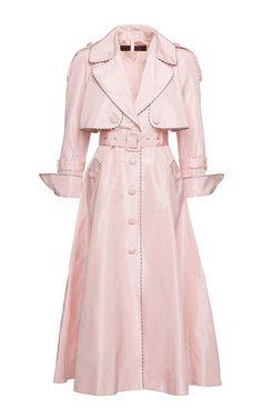 Ulyana Sergeenko Demi Couture - Notched Lapel A-Line  Coat