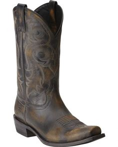 Ariat Lawless Rustic Black Cowboy Boots - Square Toe. I like these to add to the collection.