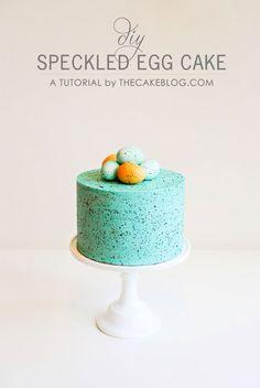 The Cake Blog - tutorial for speckled egg buttercream