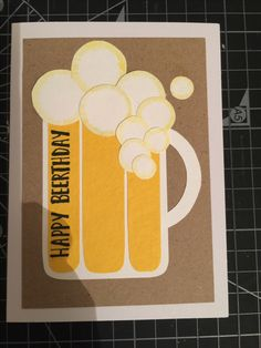 Male birthday card - Mathew, 2017 Male Birthday, Birthday Cards For Men, Diy Cards, Paper Crafts, Happy, Paper Craft Work, Ser Feliz, Happiness, Happy Birthday Man