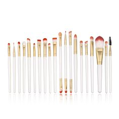 Fanatic Accessories - Professional Makeup Brushes Set Foundation Eyeshadow Eyeliner Lip Brush Tool