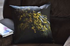 Bendigo wattle and common fringe myrtle cushions | Sharon Greenaway